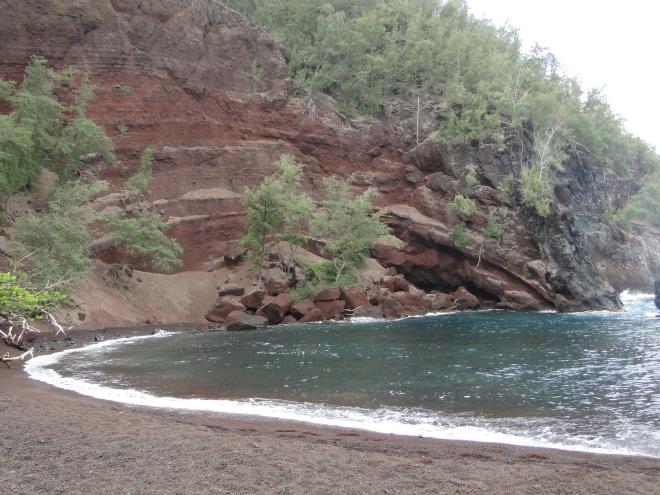 Red Sand Beach en Hana