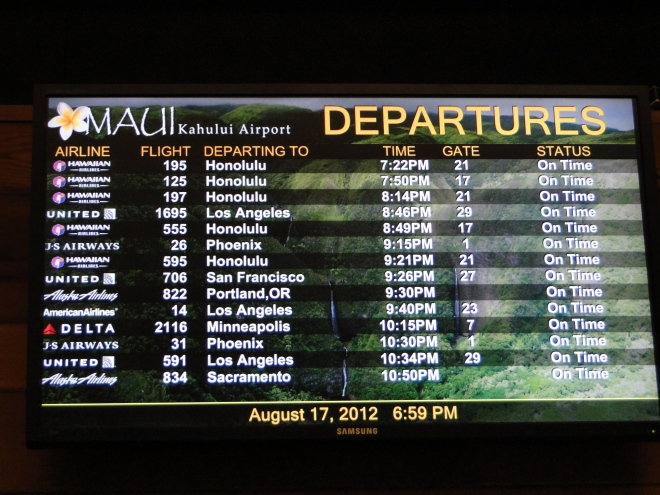 Maui Kahului Airport